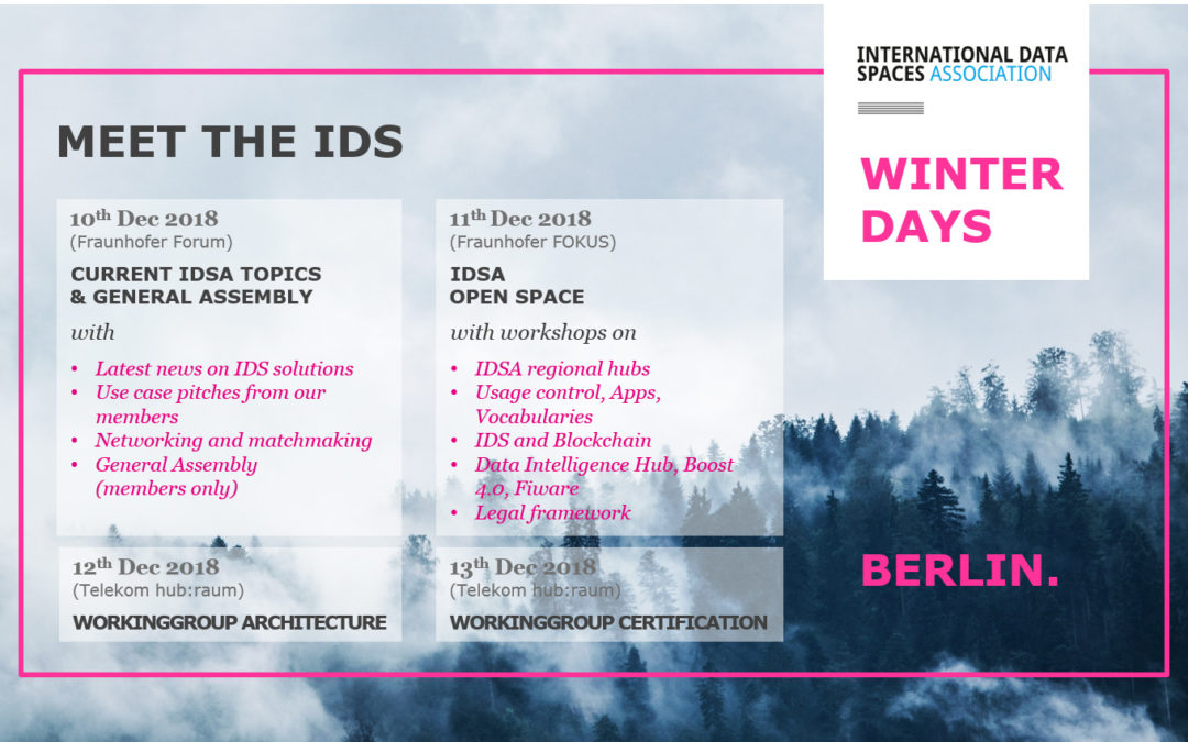 Boost 4.0 WP3 is going to meet at IDSA Winter Days 2018
